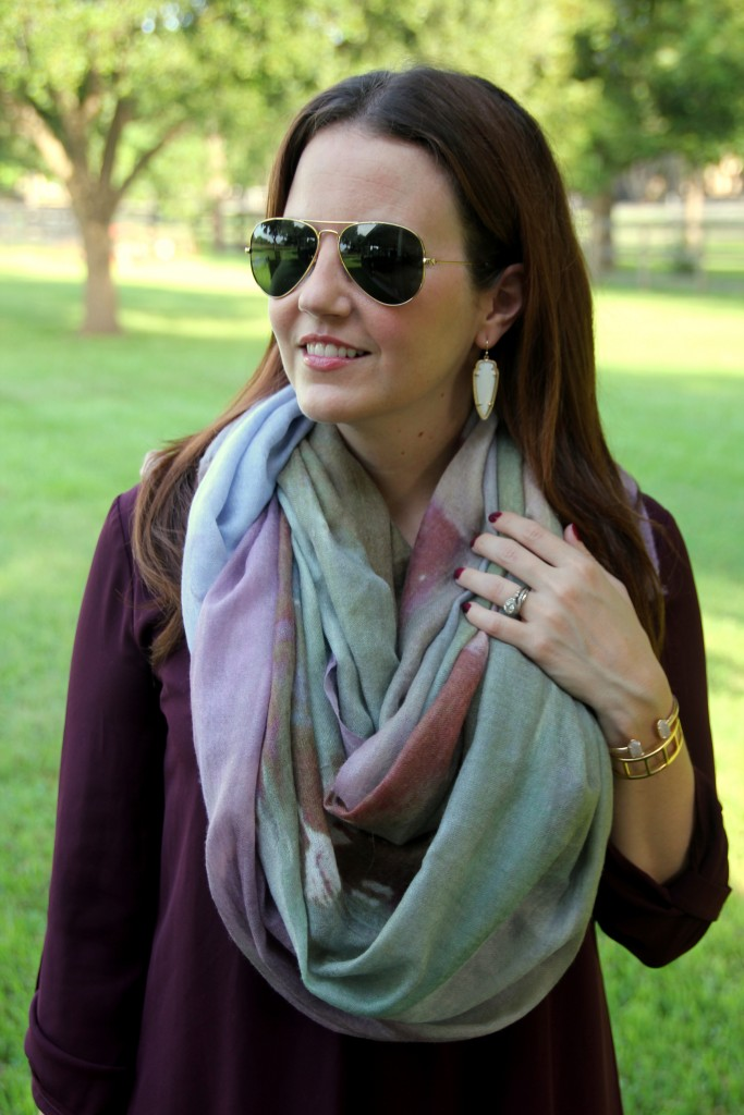 Autumnscape Scarf | Lady in Violet