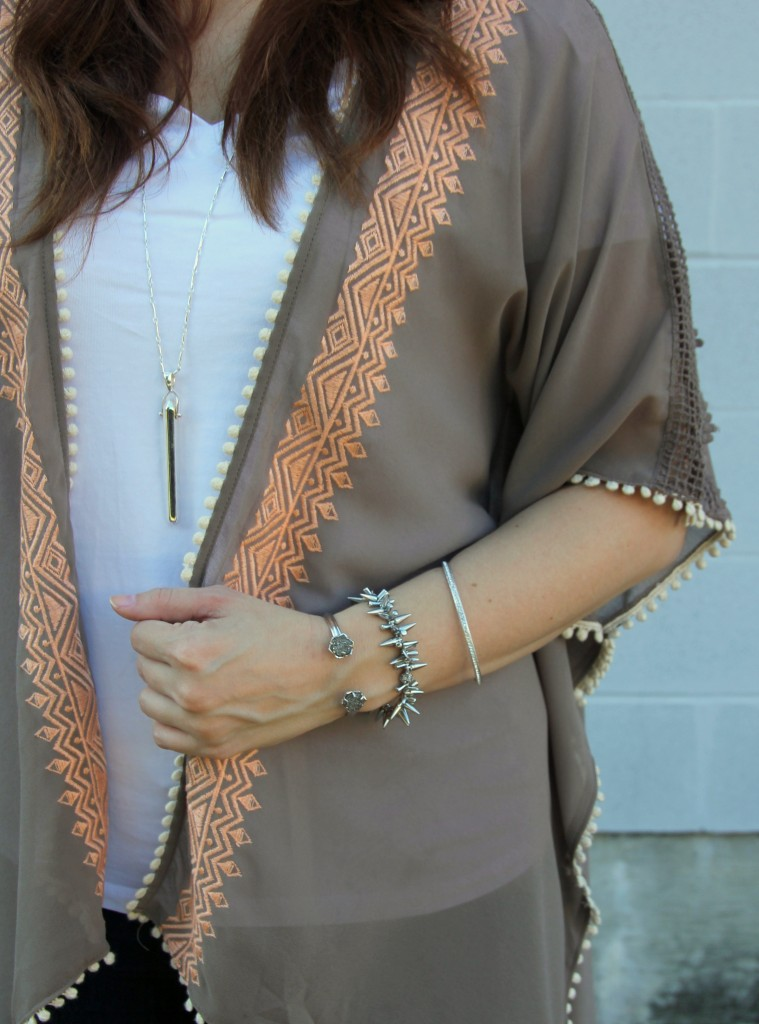 Embroidered Kimono | Lady in Violet