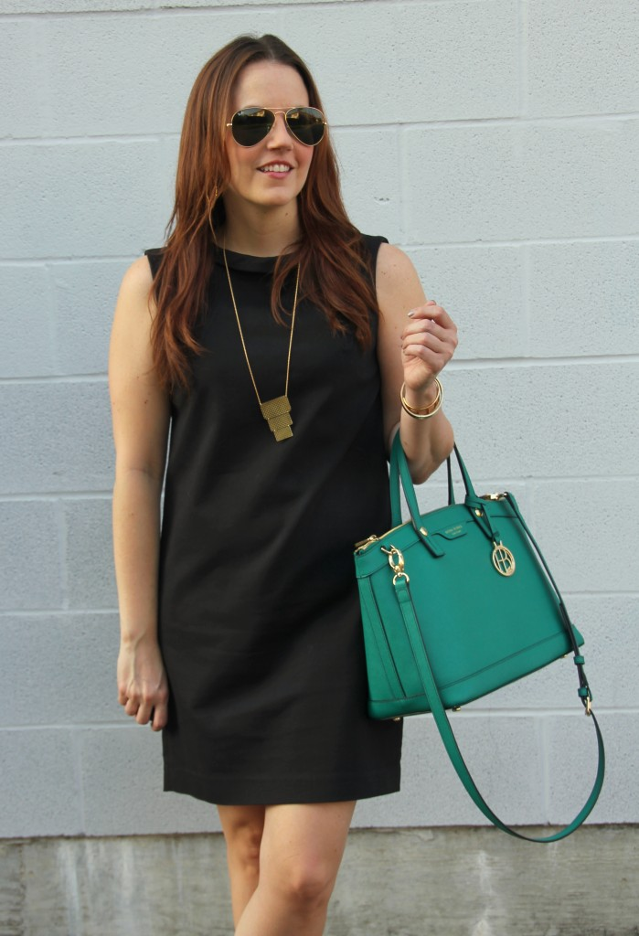 Little Black Shift Dress for Work | Lady in Violet