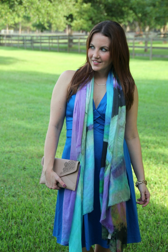 Styling a scarf for a cocktail party | Lady in Violet