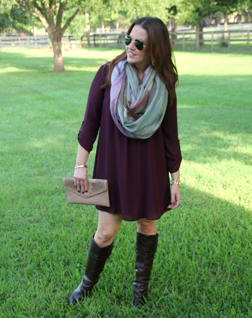 Fall Style in Marsala Dress | Lady in Violet