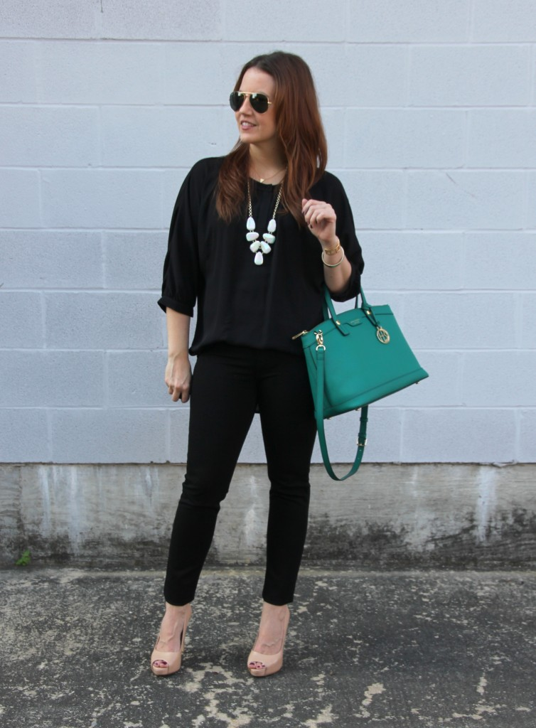 Classic Black Outfit for Fall | Lady in Violet