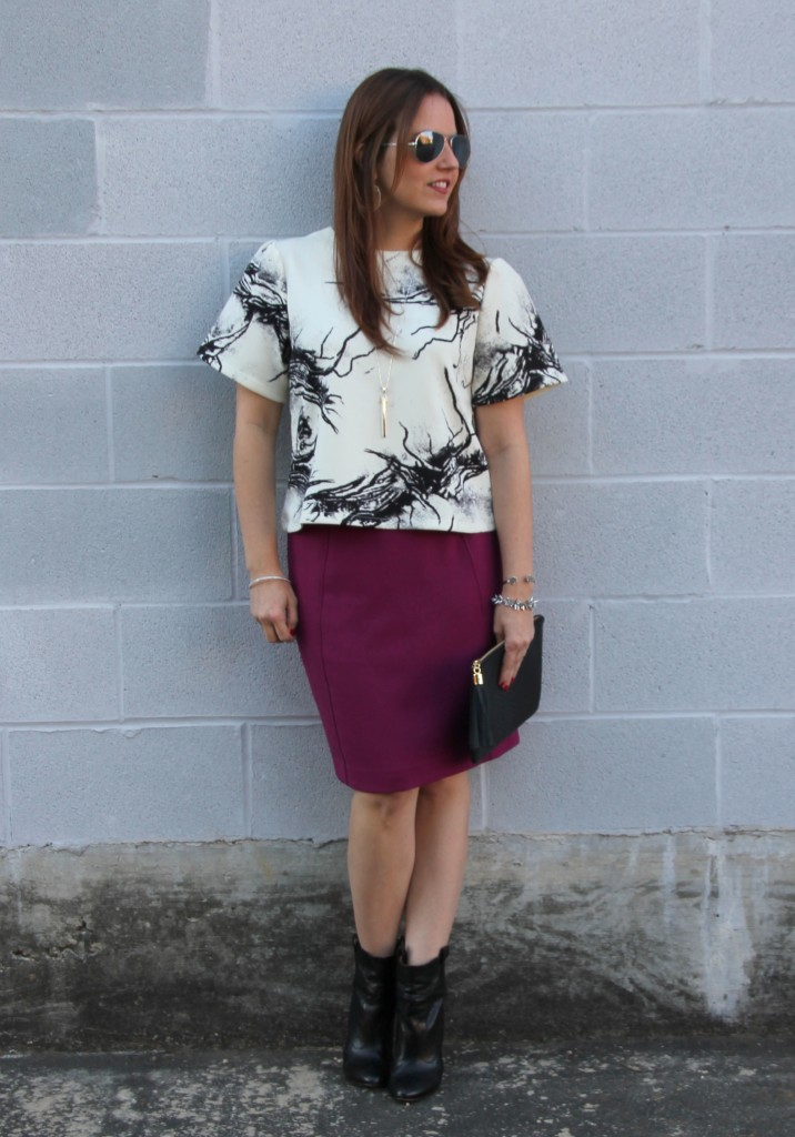 Office Outfit Idea | Lady in Violet