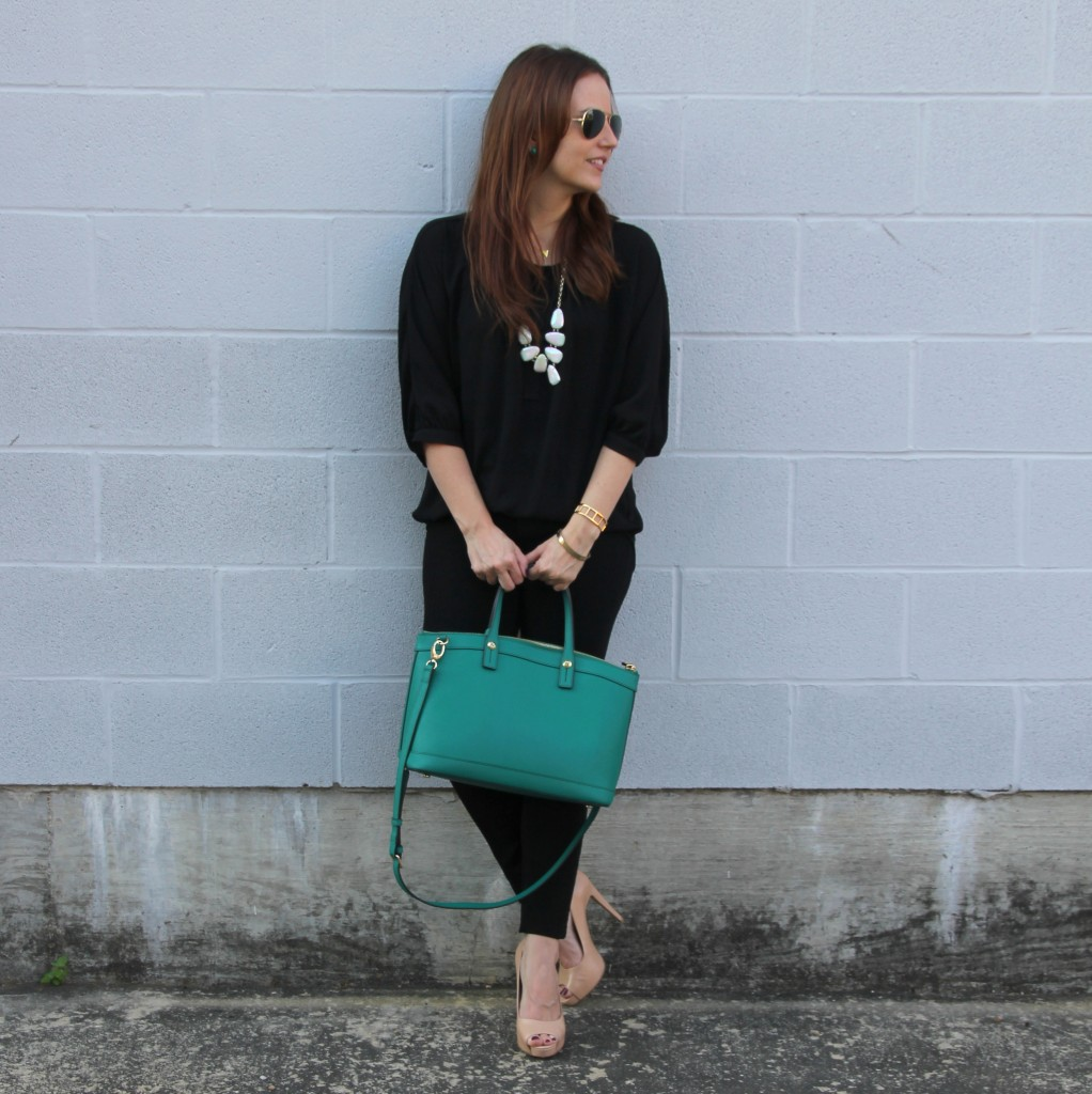 Date Night Outfit Idea - Black Skinny Jeans and Tunic | Lady in Violet