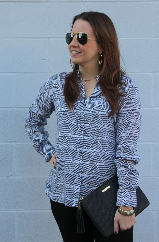 Foxcroft Patterned Blouse | Lady in Violet