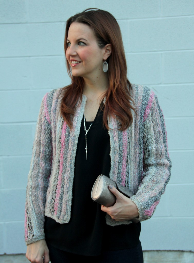 Vintage Jacket and Black Blouse | Lady in Violet