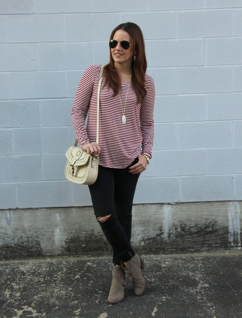 Fall Outfit Inspiration Tee | Lady in Violet