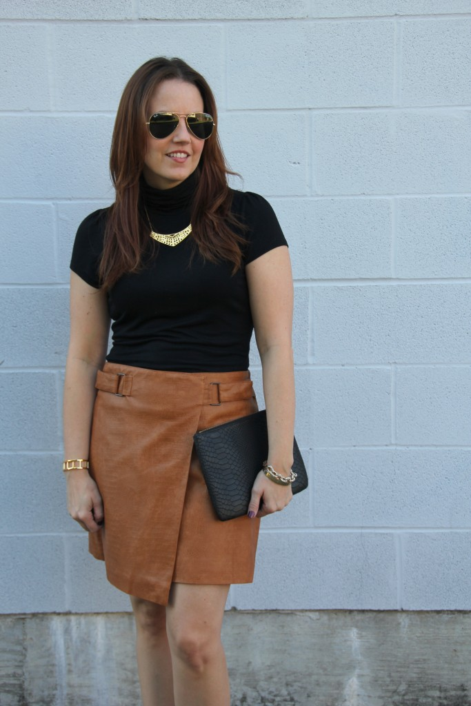 Fall Style - Leather Skirt | Lady in Violet