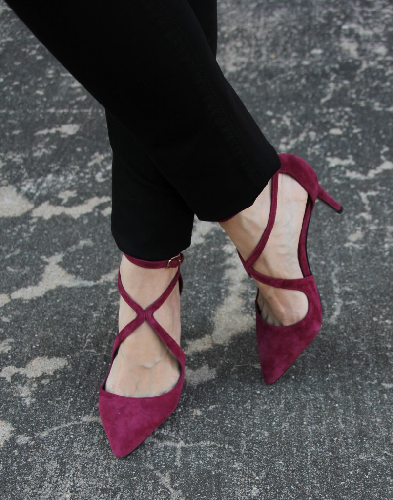 Pretty Burgundy Shoes Lady In Violetlady In Violet