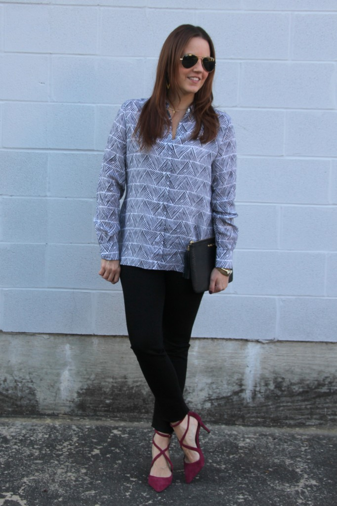 Casual Friday Work Outfit | Lady in Violet