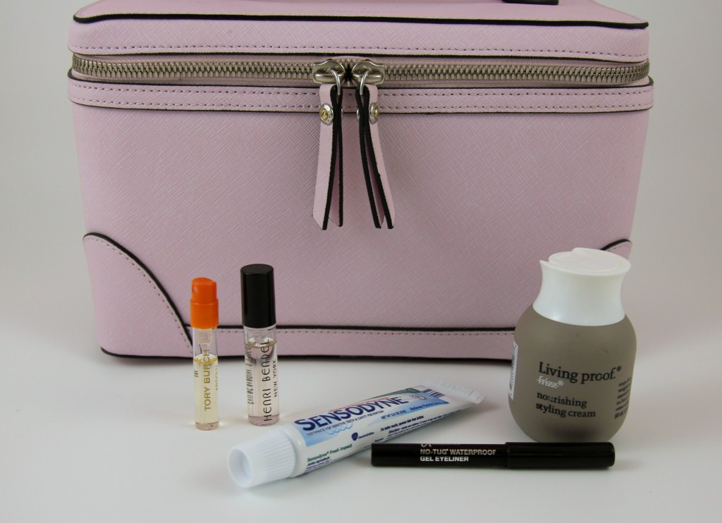 Travel Beauty Tip, free samples | Lady in violet