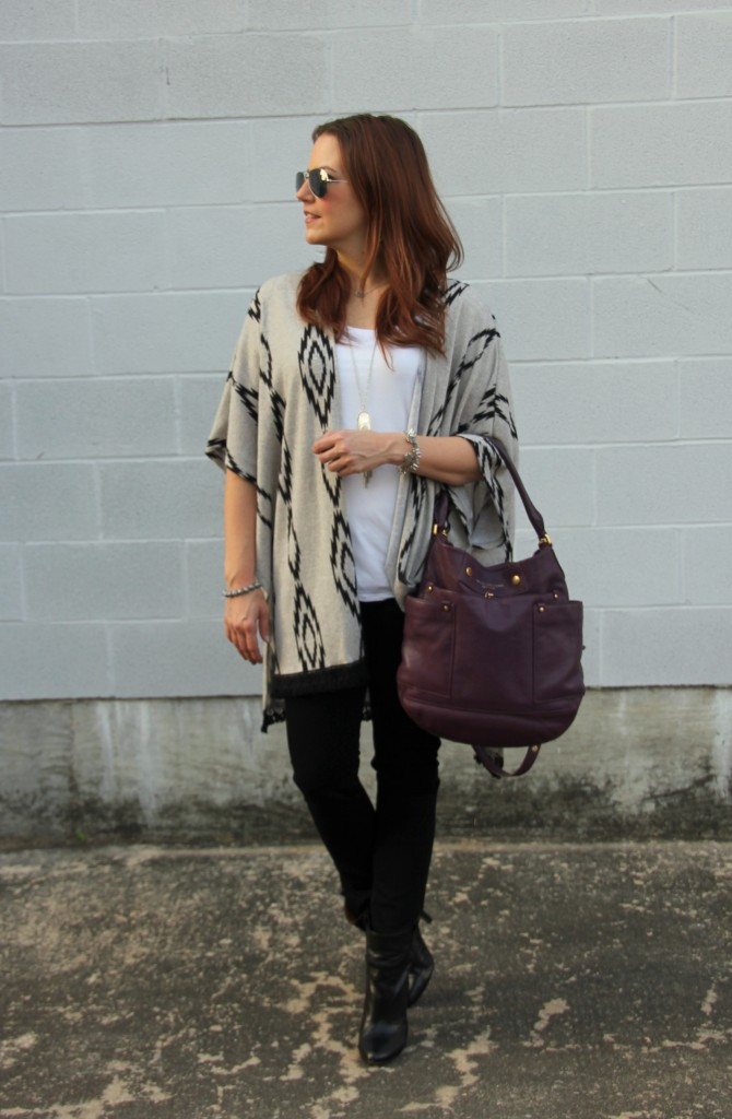 Weekend Casual Outfit for Fall or Winter | Lady in Violet