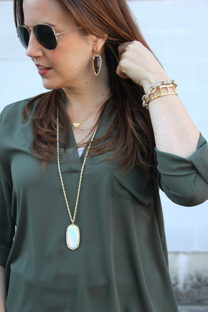 Gold Jewelry - Layering Necklaces and Arm Stack | Lady in Violet