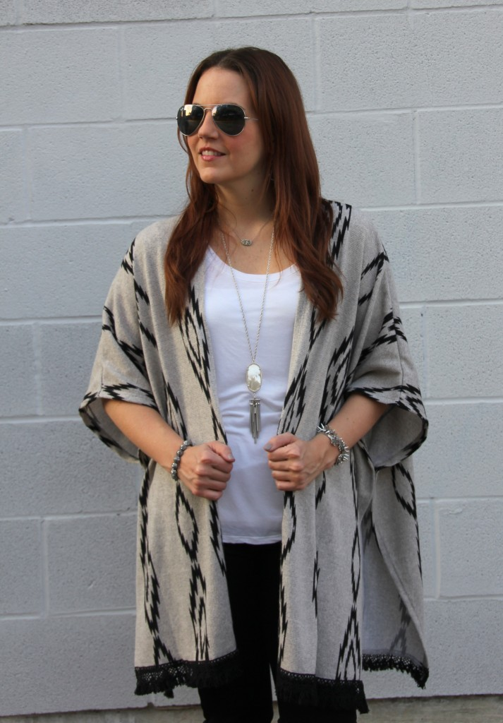 How to Style a Poncho | Lady in Violet
