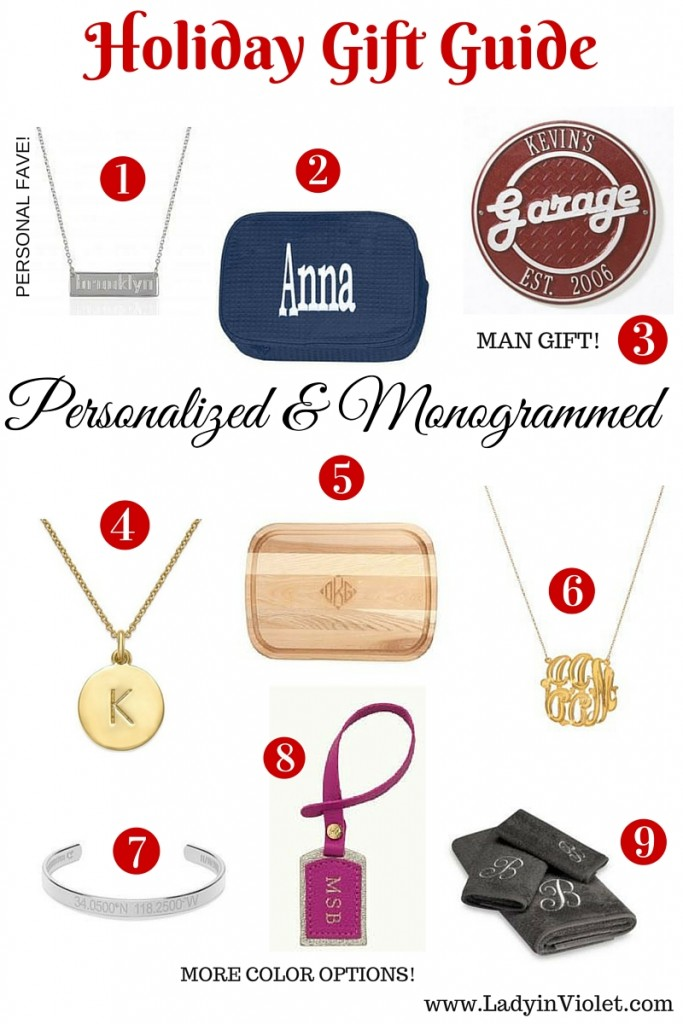 Holiday Gift Guide Personalized And Monogrammed Lady In