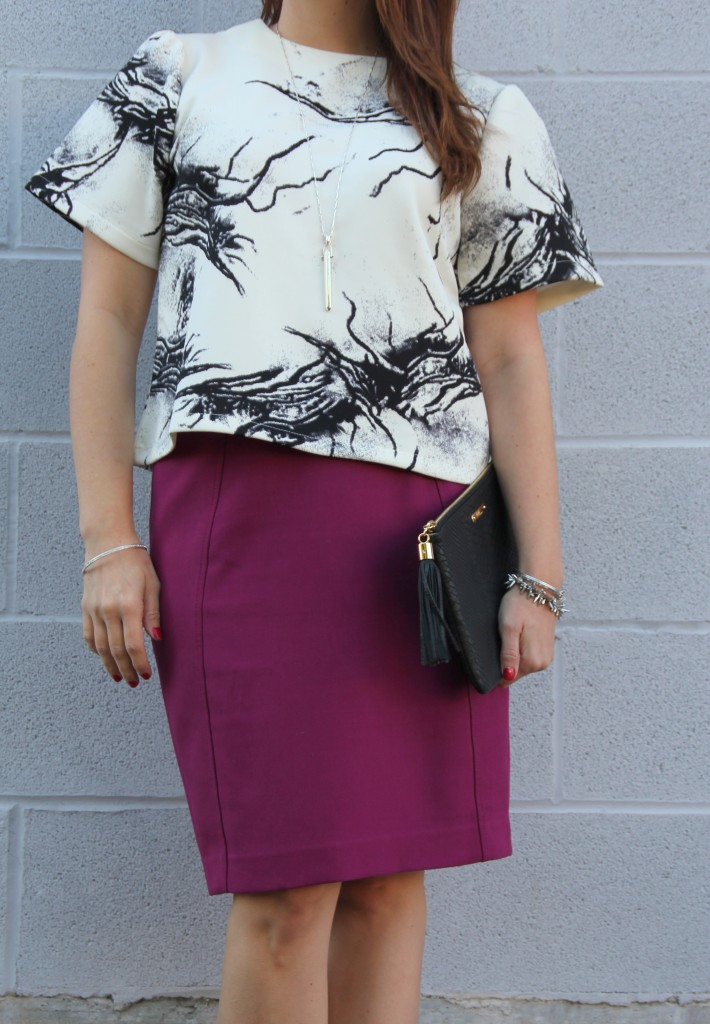 Fall Outfit for Work | Lady in Violet