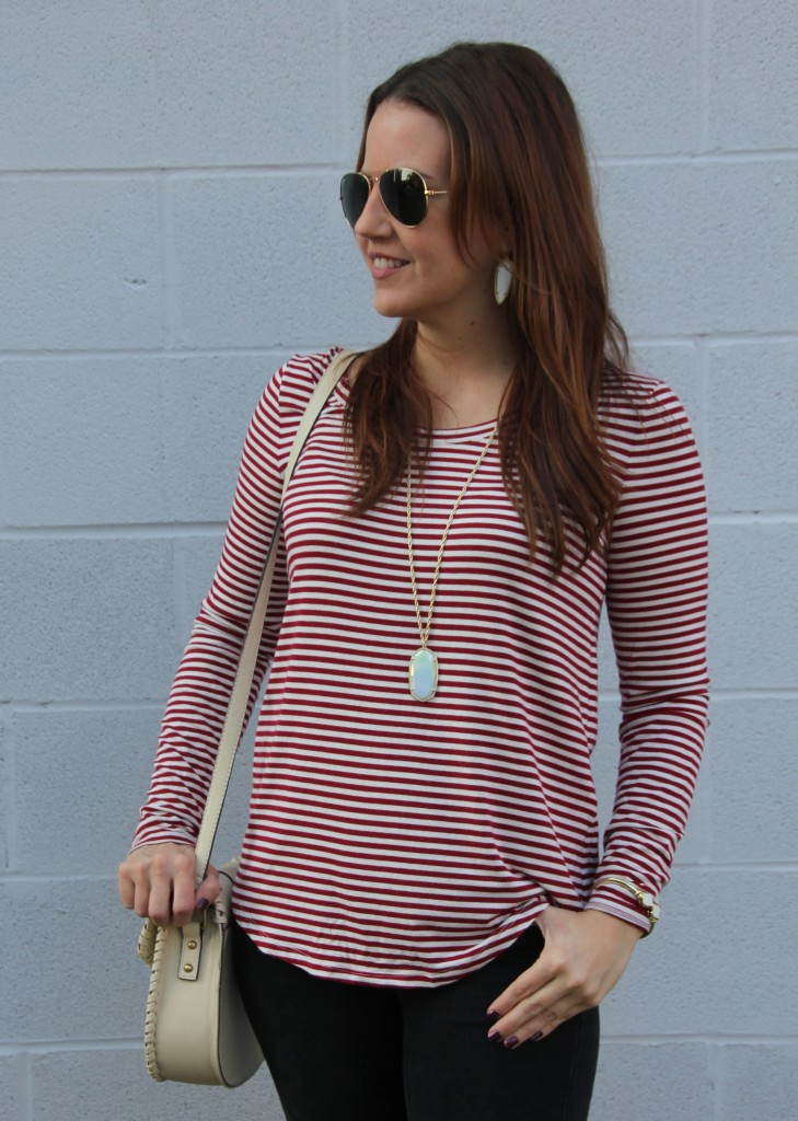 How to style a striped tee | Lady in Violet