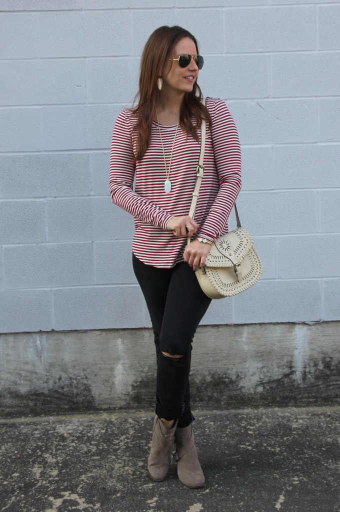 Fall Weekend Casual Outfit | Lady in Violet