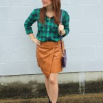 Plaid & a Leather Skirt