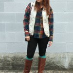 Quilted Vest & Boot Socks