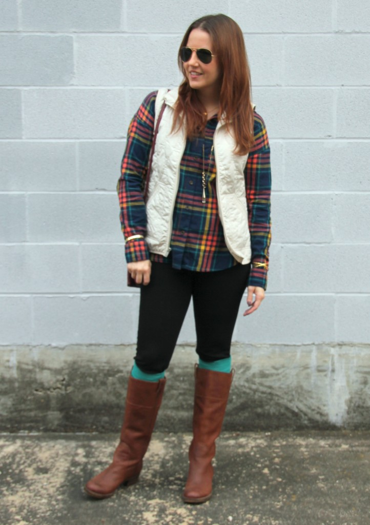 Quilted Vest Amp Boot Socks Lady In Violetlady In Violet