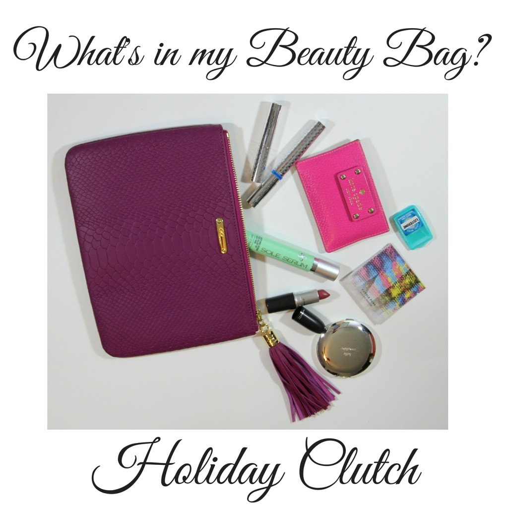 What's in my Holiday Clutch? The Essentials to pack for a party | Lady in Violet