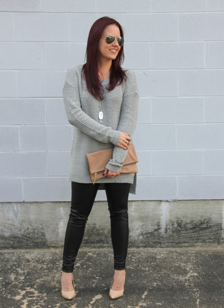 How To Wear Leather Leggings | Lady in Violet