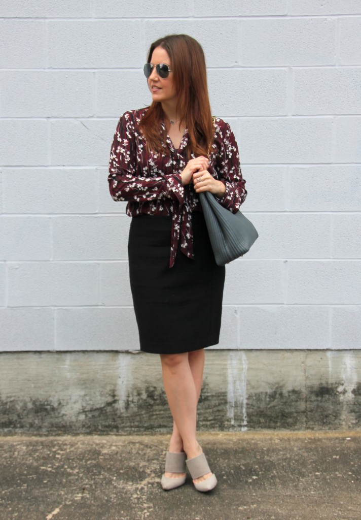 What I Wore to Work - Pencil Skirt   Lady in Violet