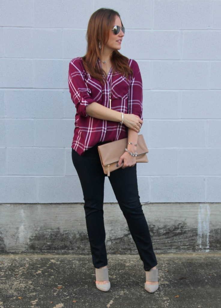 Fall Outfit Inspiration - Dressed-Up Casual Weekend Look | Lady in Violet