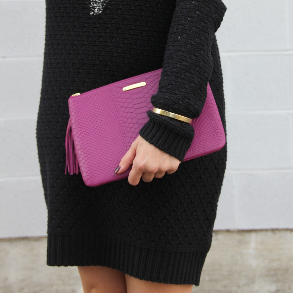 Gigi NY Magenta Clutch | Lady in Violet