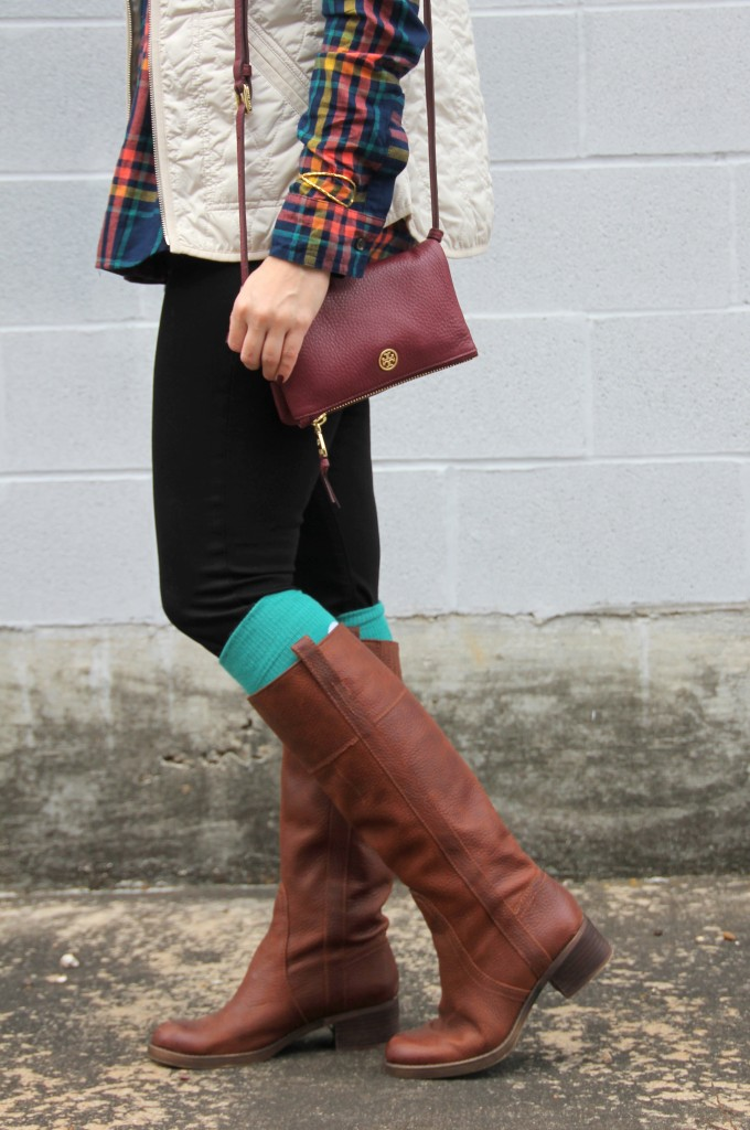 Quilted Vest Amp Boot Socks Lady In Violetlady In Violet