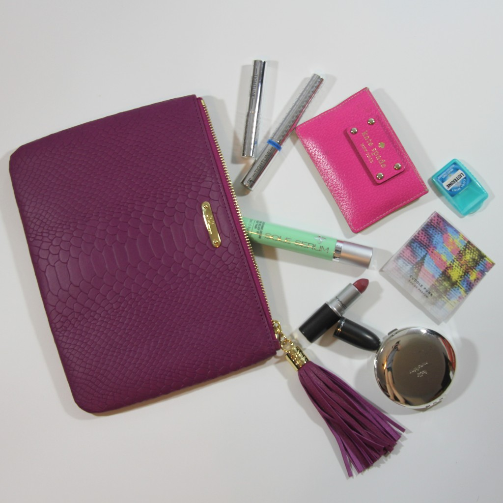 What's in my Holiday clutch Essentials | Lady in Violet