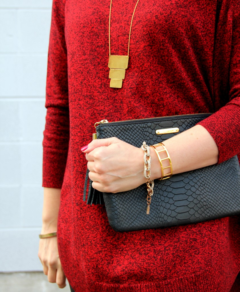 Gigi NY Black Clutch and Baublebar Bracelets | Lady in Violet