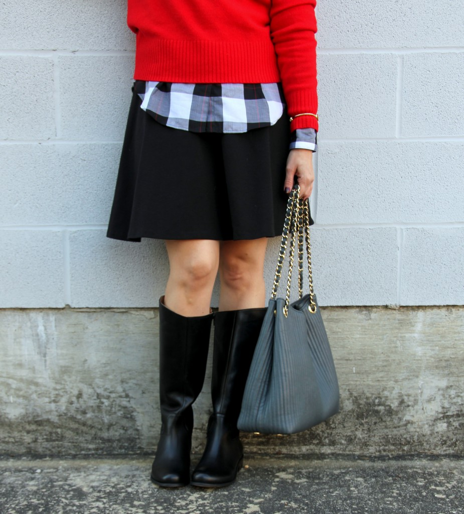 Henri Bendel Bag and Corso Como Riding Boots   Lady in Violet