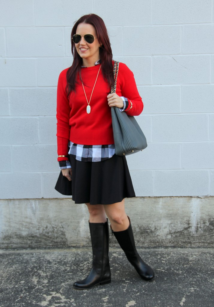 Fall Fashion Outfit - Layers with a Skirt   Lady in Violet