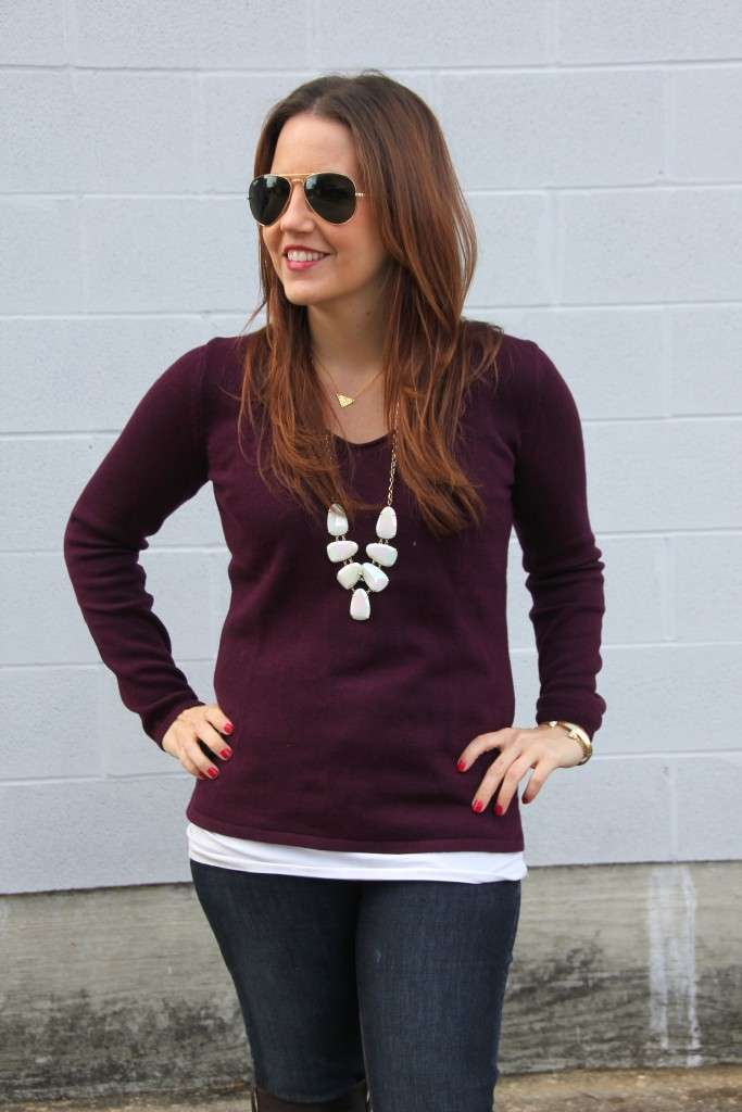 Old Navy VNeck Sweater | Lady in Violet