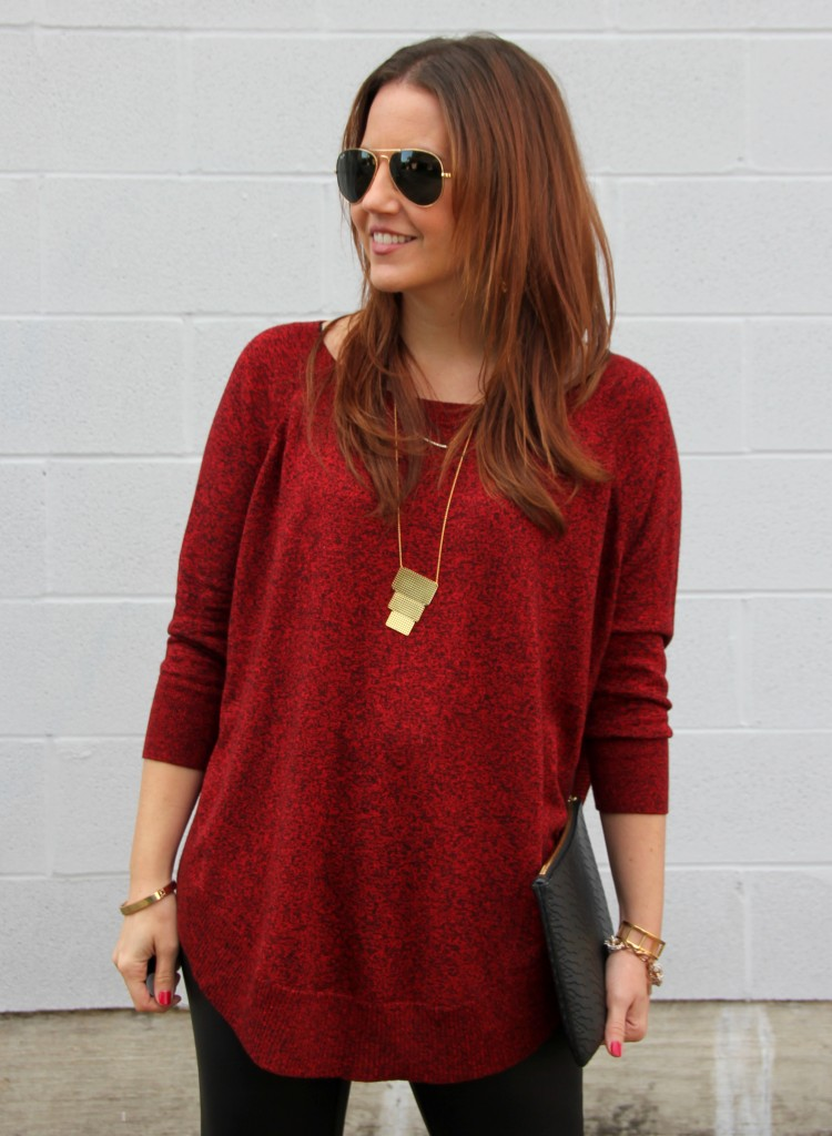 Red Christmas Sweater | Lady in Violet