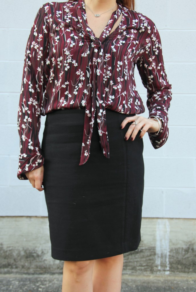 Work Outfit Idea   Lady in Violet