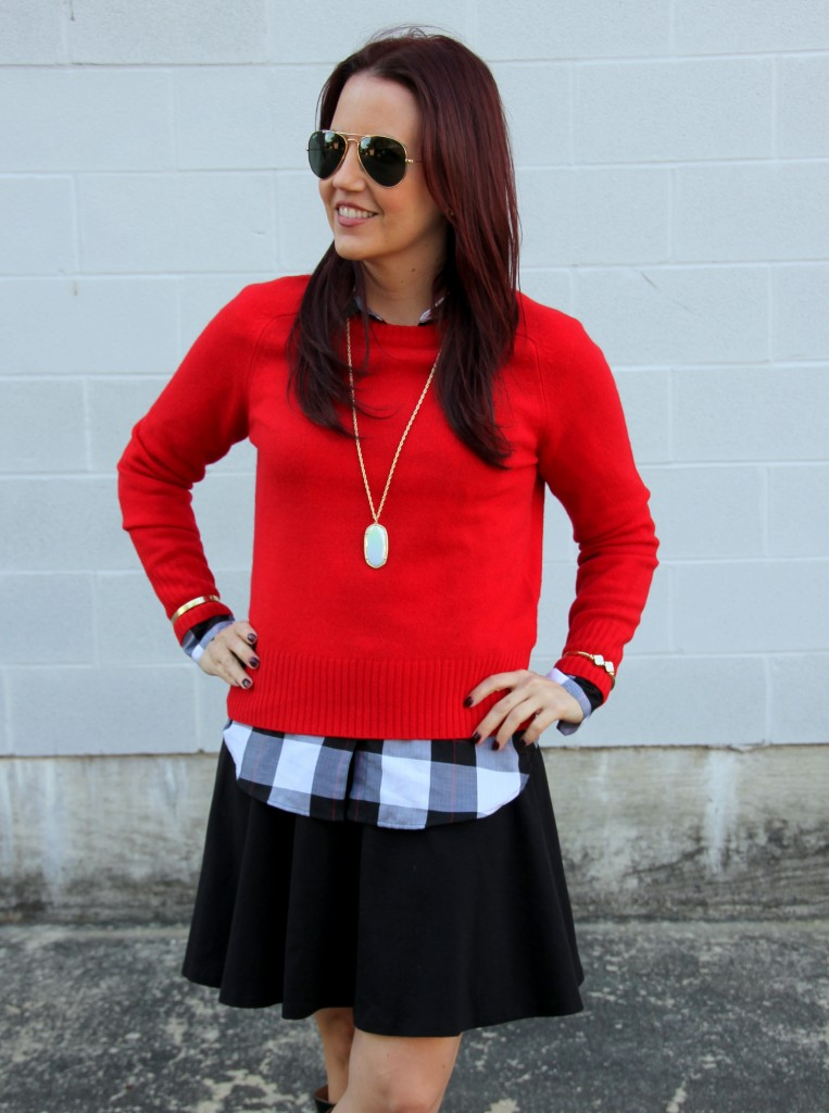 Holiday Outfit Idea - Red Sweater | Lady in Violet