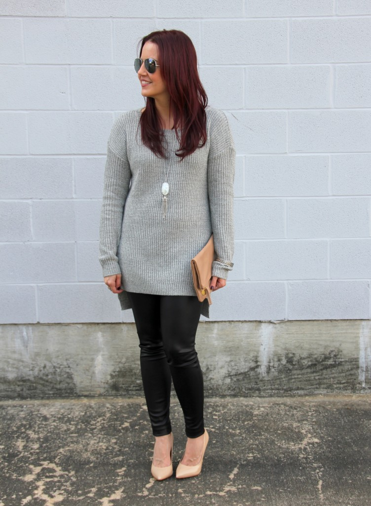 Winter Outfit Idea - Sweater and Leggings | Lady in Violet