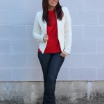 White Blazer & Red Lace