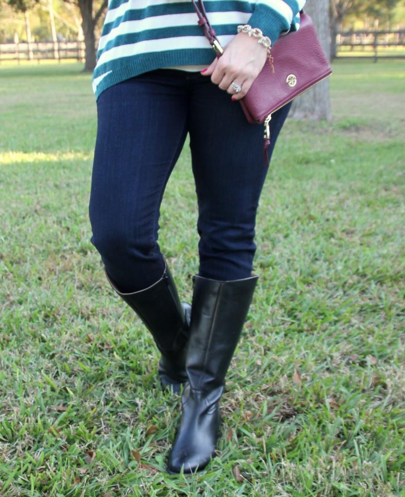 Corso Como Black Riding Boots   Lady in Violet