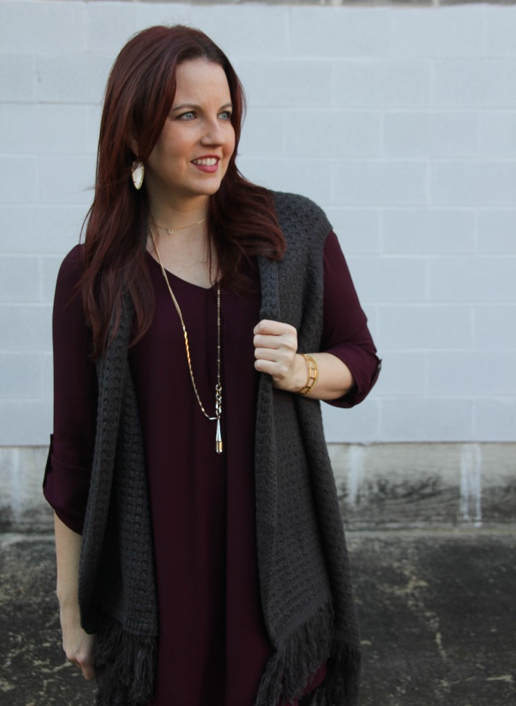 How to layer sweater vests | Lady in Violet