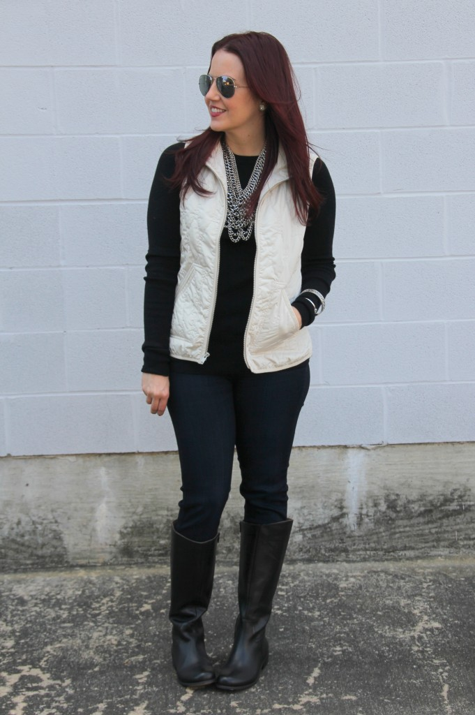 Quilted Vest Amp Riding Boots Lady In Violetlady In Violet