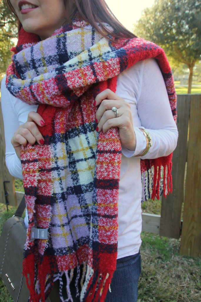 Blanket Scarf Amp A Plain White Tee Lady In Violetlady In