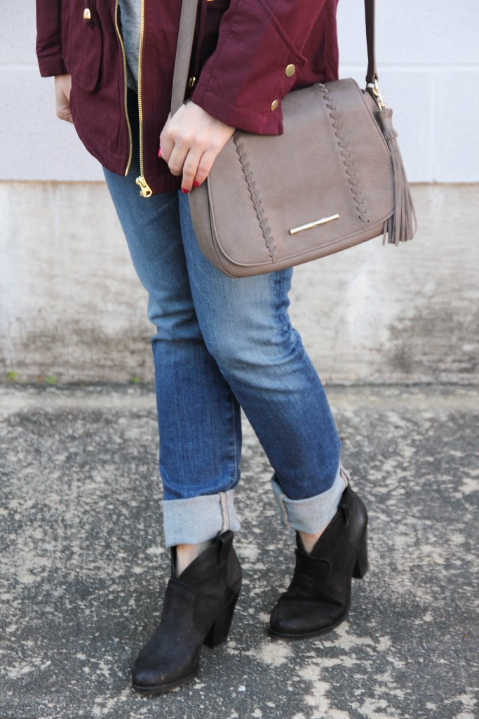 AG Cigarette Jeans and Vince Camuto Hillsy Booties | Lady in Violet