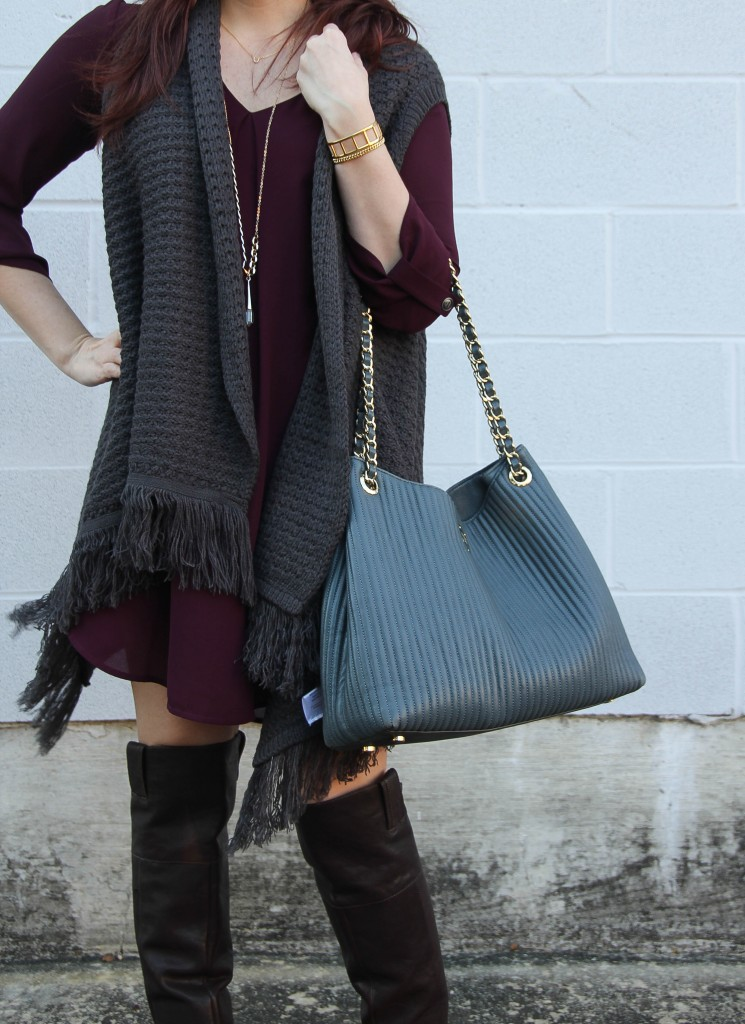 Fall Fashion - Swing Dress and Sweater Vests | Lady in Violet