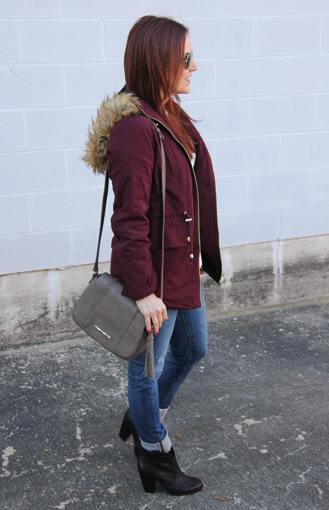 Cold Weather Wear - Coat and Jeans | Lady in Violet