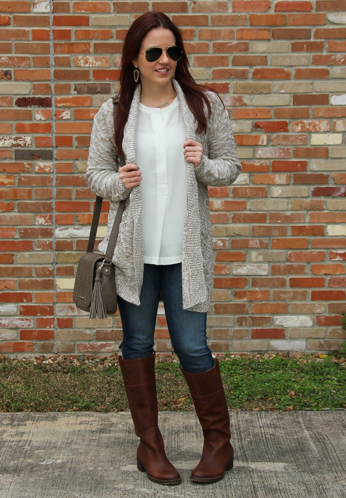How to Style Long Cardigans in Fall | Lady in Violet