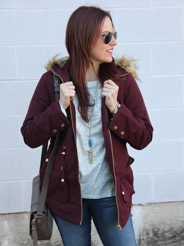Casual Winter Coat with Hood | Lady in Violet